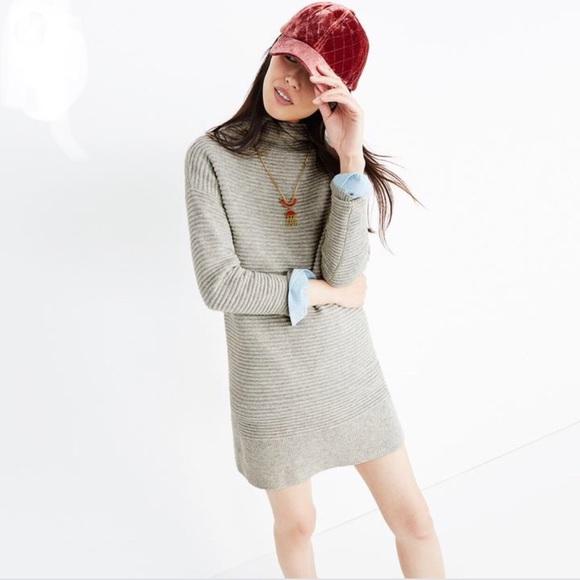 fa310e8eff Madewell Dresses   Skirts - Madewell Gray Skyscraper Merino Wool Sweater  Dress